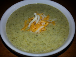 Broccoli Cheese Soup 1
