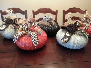 Dryer Vent Pumpkins - multi
