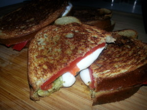Grilled mozz with pesto 1