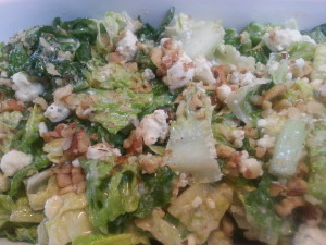 Romaine with Blue Cheese and Walnuts