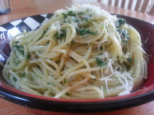 Spaghetti with Garlic and Oil 1