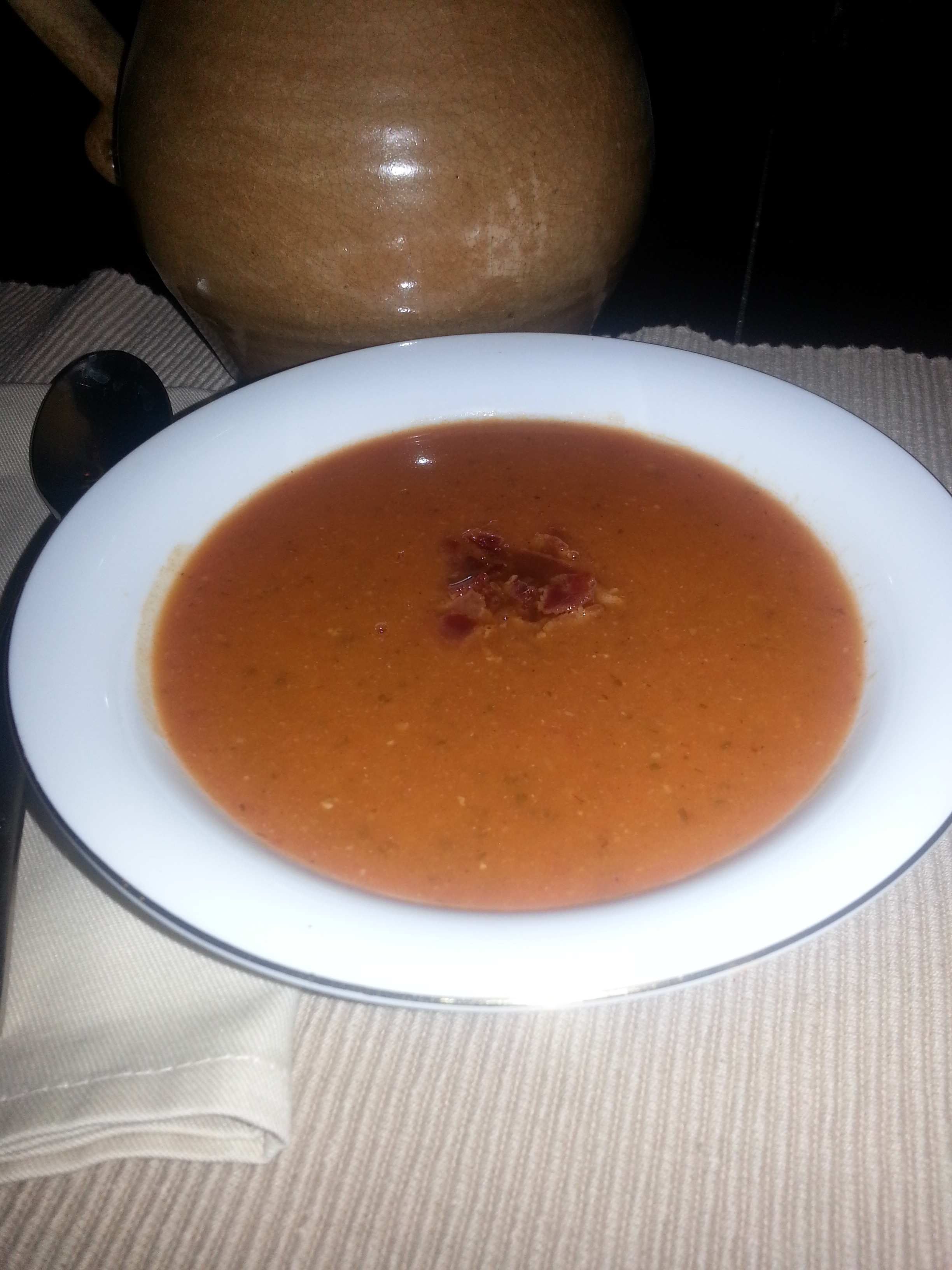 Tomato, White Bean, Bacon Soup Recipe — Dishmaps