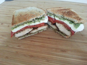 Chicken Cutlet, Mozz, Pesto, Red Pepper 1