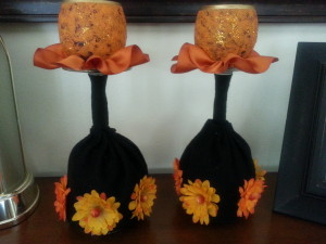 Wine glass votive