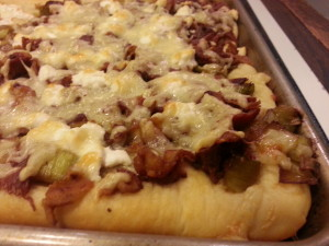 Pizza Bacon, Leeks & Gruyere