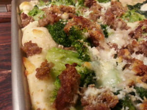 Pizza Broccol & Sausage1