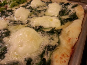 Pizza Spinach and Ricotta