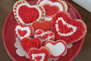 Valentine Cookie Plate