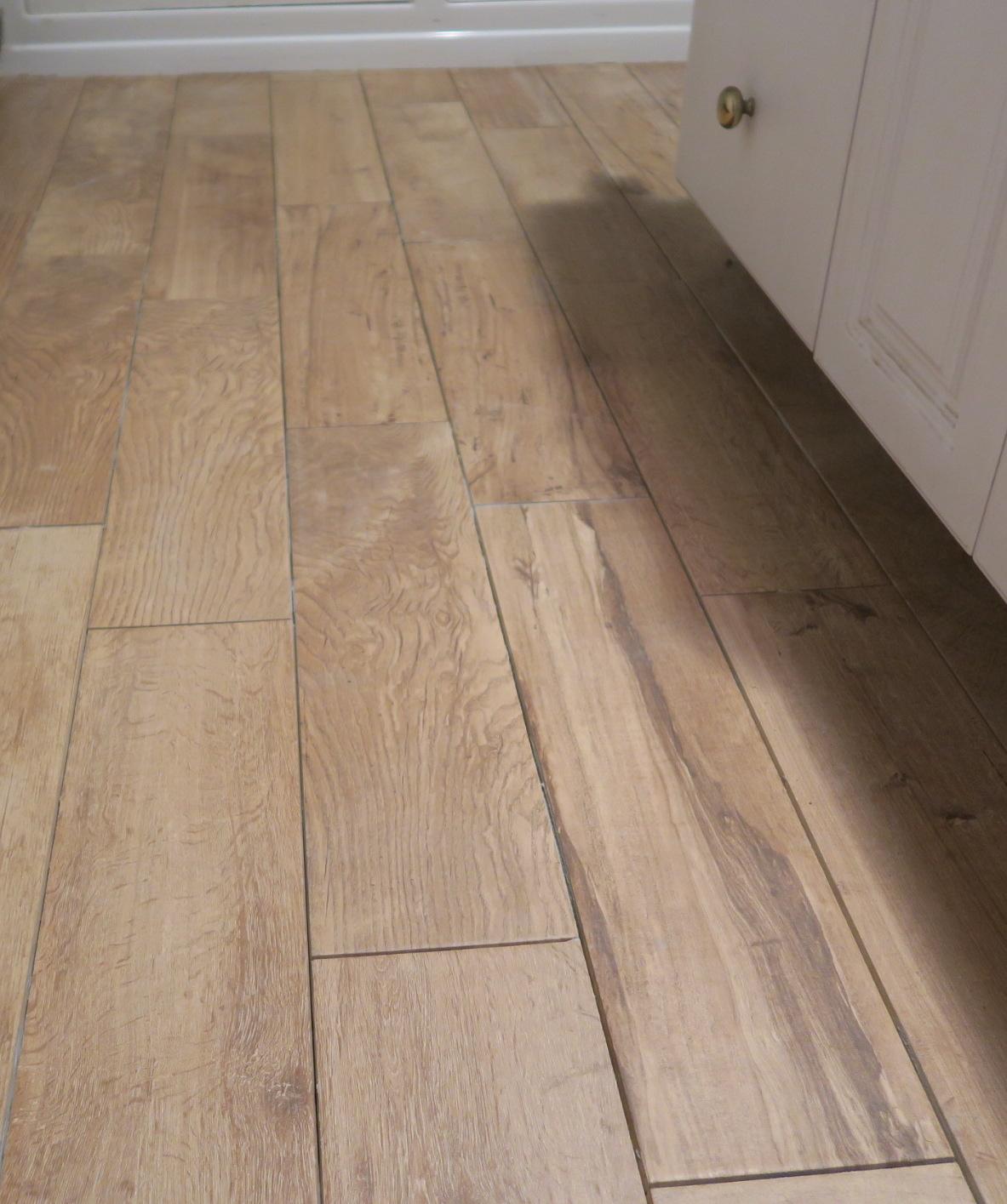 Bathroom tile finish