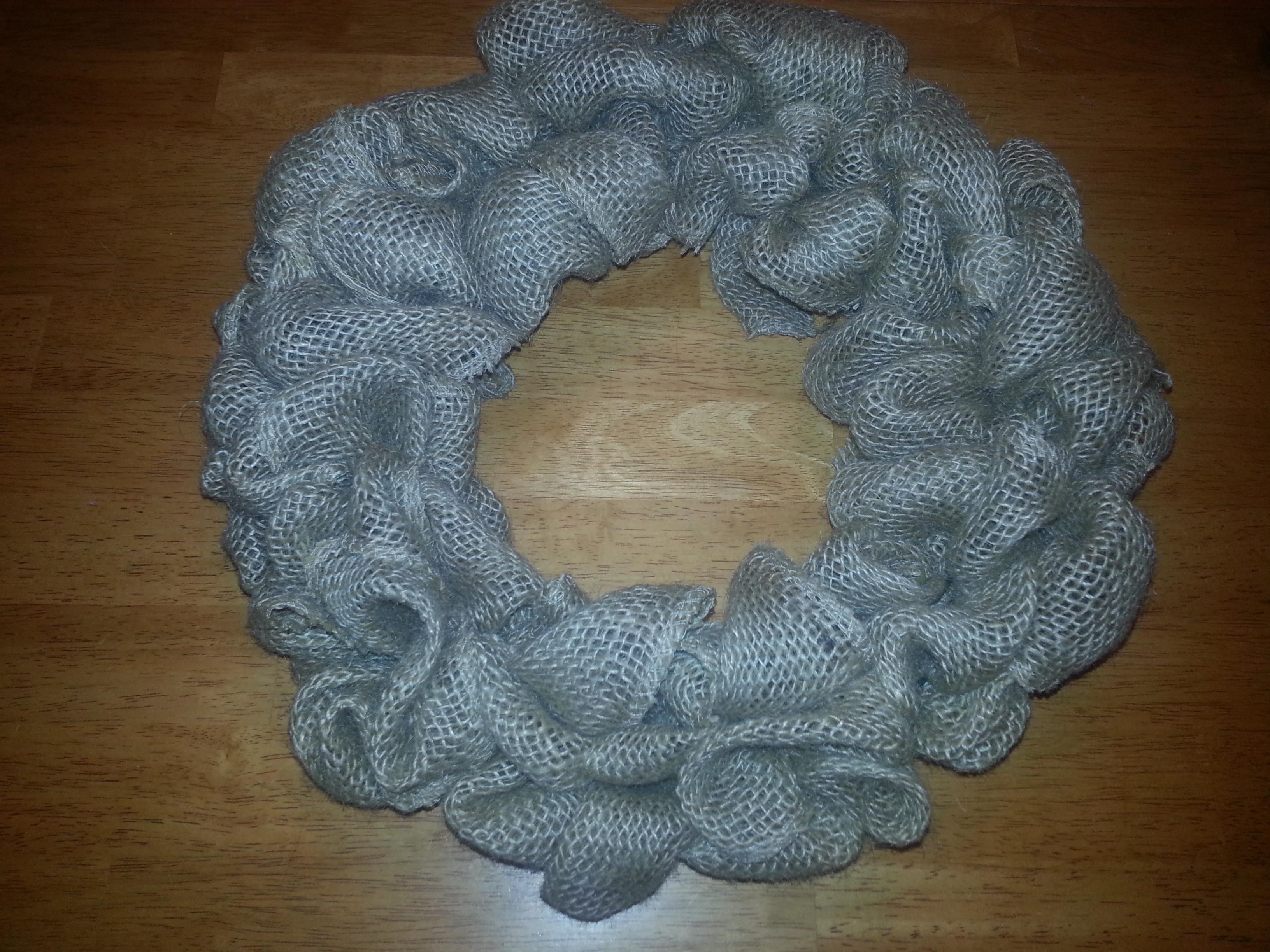 Burlap Wreath Finish