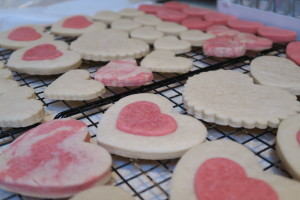 Valentine Cookie Done