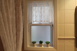 Bathroom Window finish