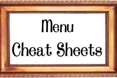 Menu Cheat Sheets