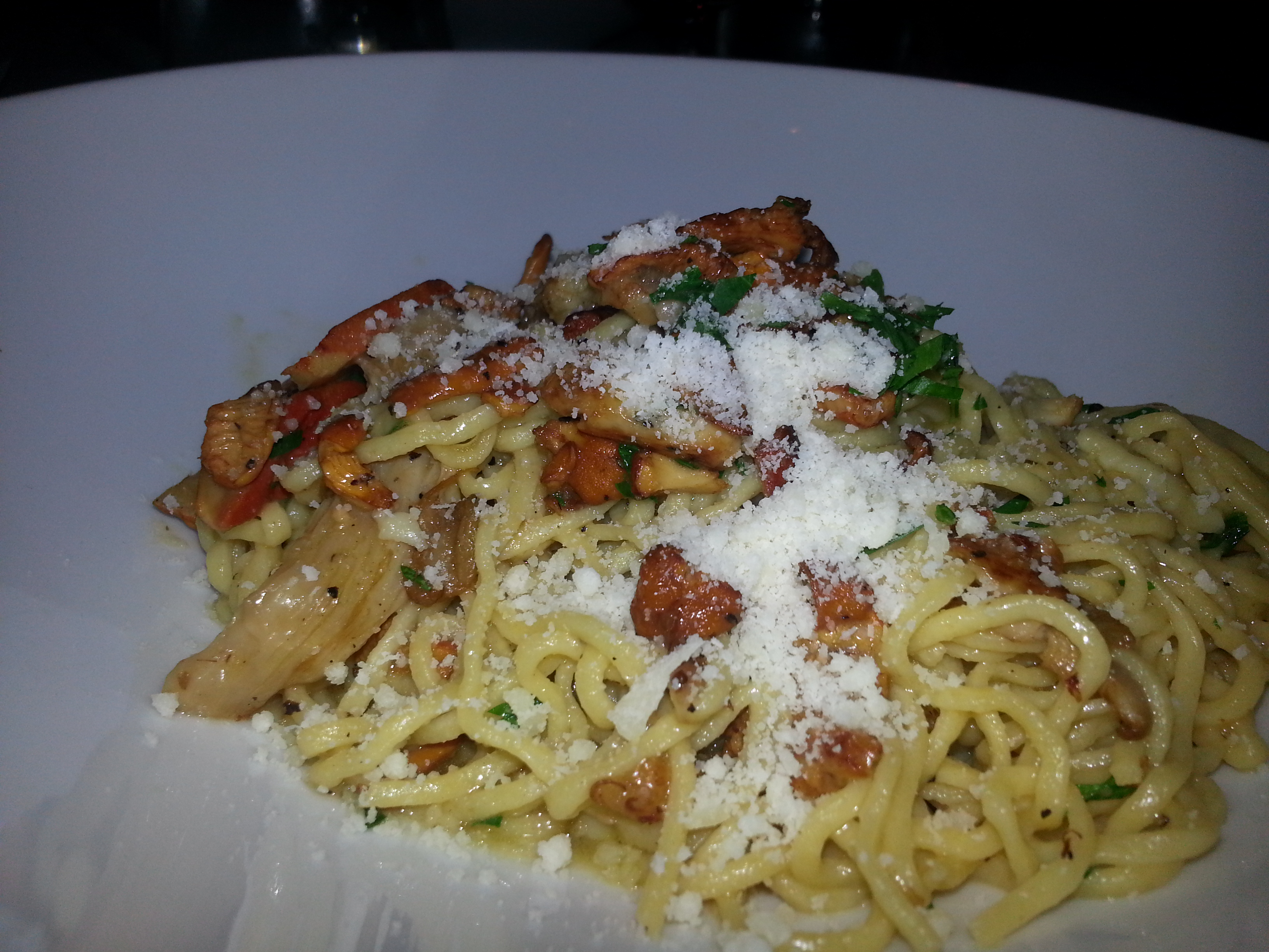 Montreal Food Pasta with Mushrooms